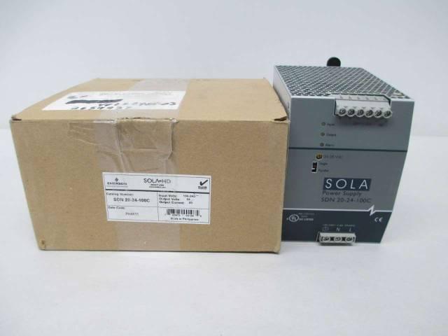 SOLA SDN-20-24-100C HEAVY DUTY 100-240V-AC 20A 24V-DC POWER SUPPLY D378004