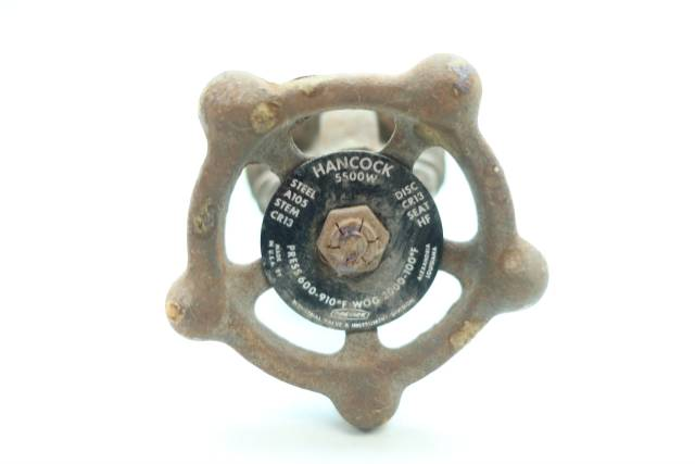 HANCOCK 5500W MANUAL STEEL SOCKET WELD WEDGE GATE VALVE 3/8IN D660707