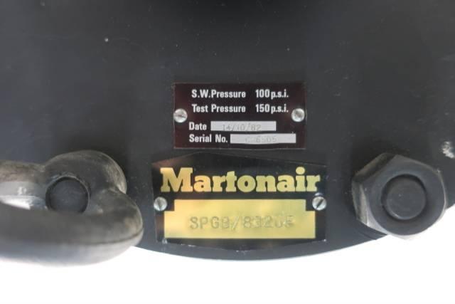 MARTONAIR 654935 PNEUMATIC VALVE ACTUATOR 100PSI D660046