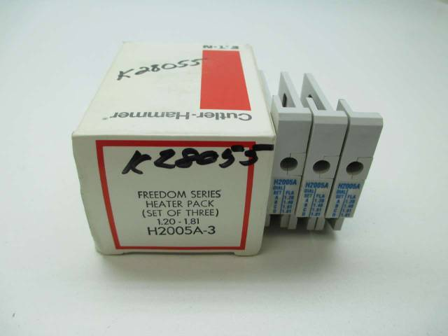 CUTLER HAMMER H2005A-3 FREEDOM SERIES HEATER PACK 1.20-1.81A AMP  D390386
