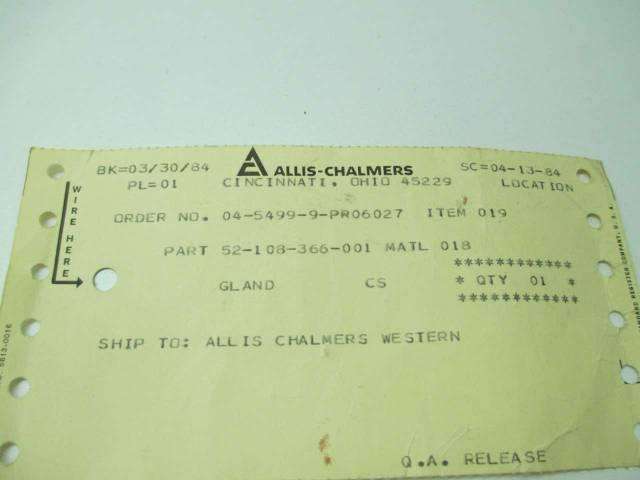 A-C PUMP 52-108-366-001 STEEL PUMP GLAND REPLACEMENT PART D390699