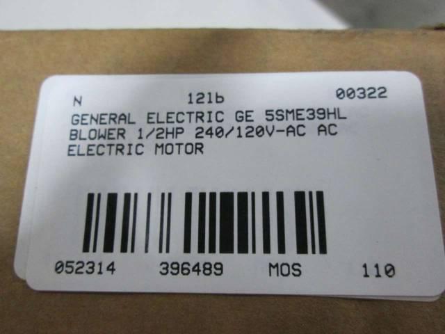 GENERAL ELECTRIC GE 5SME39HL 1/2HP 240V-AC AC BLOWER ELECTRIC MOTOR D396489