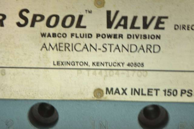WABCO PT44104-1700 SUPER SPOOL 1/2IN NPT PNEUMATIC DIRECTIONAL VALVE D399651