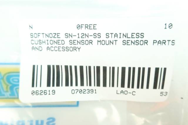 SOFTNOZE SN-12N-SS STAINLESS CUSHIONED SENSOR MOUNT