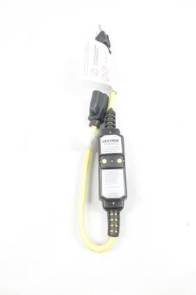 LEVITON GFA15 15AMP PORTABLE GFCI 14/3 2FT 125V-AC CORDSET CABLE