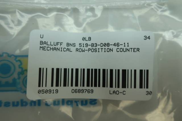 BALLUFF BNS 519-B3-D08-46-11 MECHANICAL POSITION SWITCH
