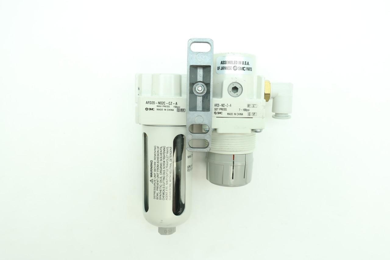 SMC AFD20-N02C-CZ-A Pneumatic Filter 1//4IN NPT 150PSI