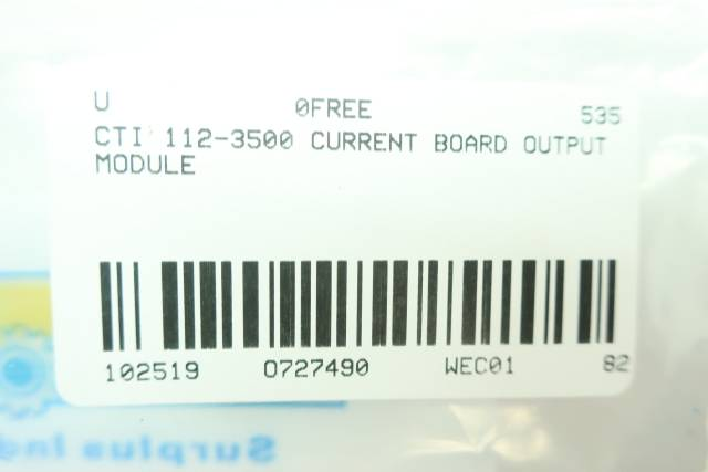 CTI 112-3500 CURRENT OUTPUT BOARD