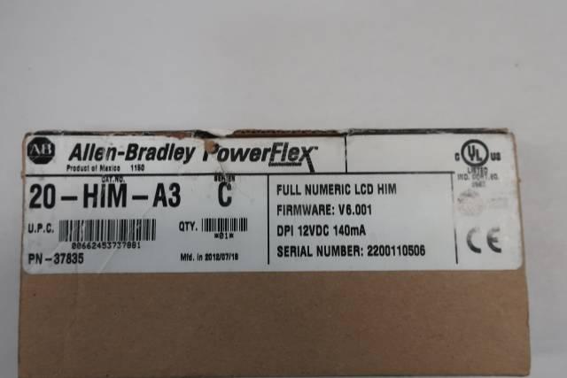 ALLEN BRADLEY 20-HIM-A3 POWERFLEX OPERATOR INTERFACE KEYPAD SER C