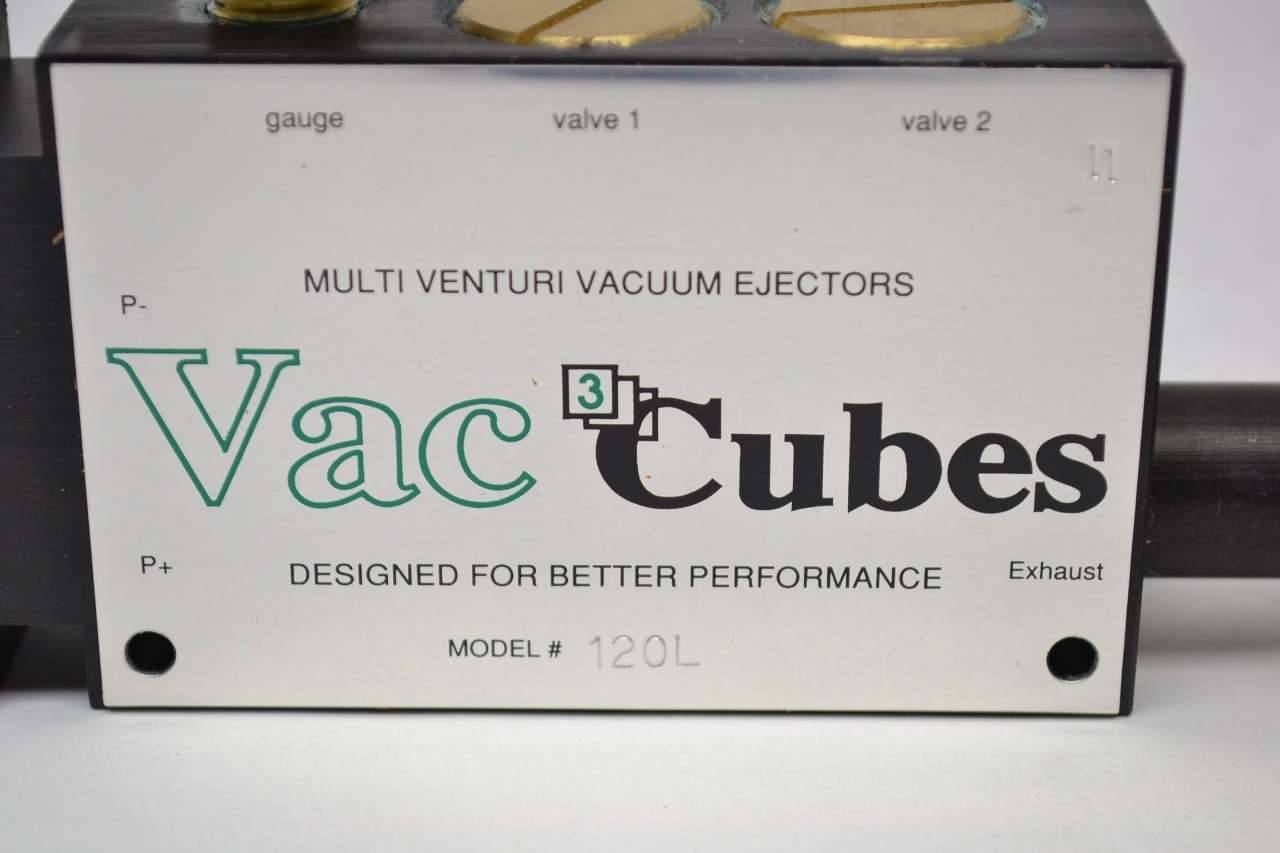 Details about  /VacCubes Model #120 Multi-Venturi Vacuum Ejectors Vac Cubes