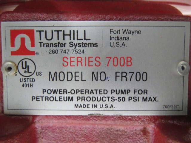 TUTHILL FR700 FILL-RITE 700B 115V-AC 1/3HP 1725RPM TRANSFER PUMP B442645