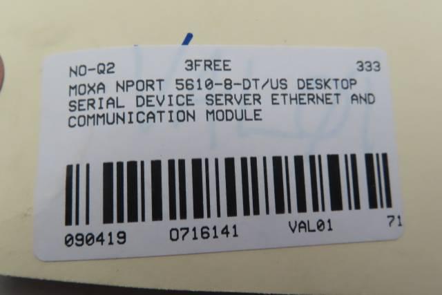 MOXA NPORT 5610-8-DT/US V1.3 DESKTOP SERIAL DEVICE SERVER