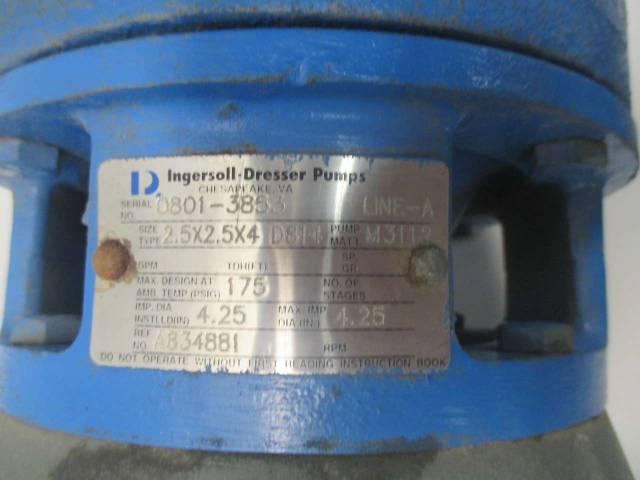 INGERSOLL DRESSER 2 5X2 5X4 D814 230/460V-AC 5HP IRON CENTRIFUGAL PUMP  D454052