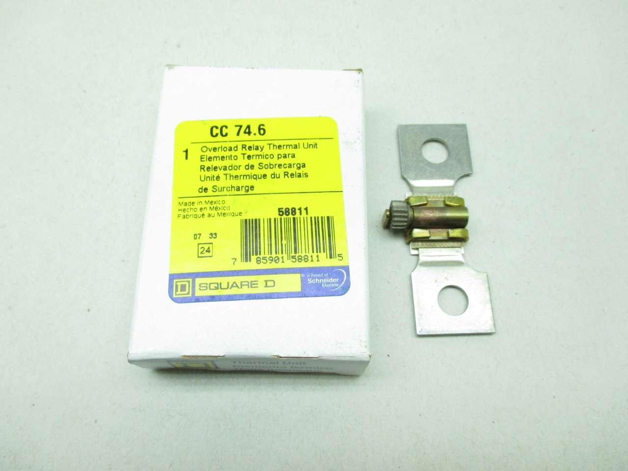 Square D CC746 Thermal Overload Heater Relay Unit