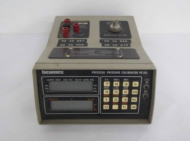 BEAMEX PC 105 PRESSCAL PRESSURE CALIBRATOR 24V-DC TEST EQUIPMENT B459213