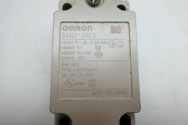 OMRON D4BS-3AFS STI SAFETY LIMIT SWITCH