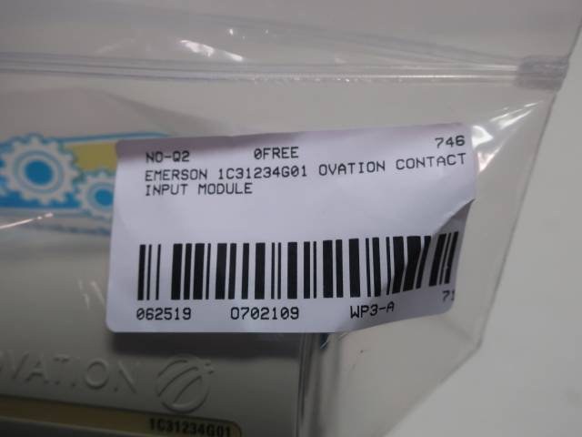 EMERSON 1C31234G01 OVATION CONTACT INPUT MODULE