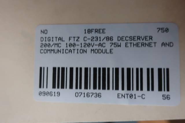 DIGITAL FTZ C-231/86 DECSERVER 200/MC 100-120V-AC 75W
