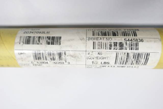SANDVIK 347 3/32IN 36IN 10LB ELECTRODE D660821