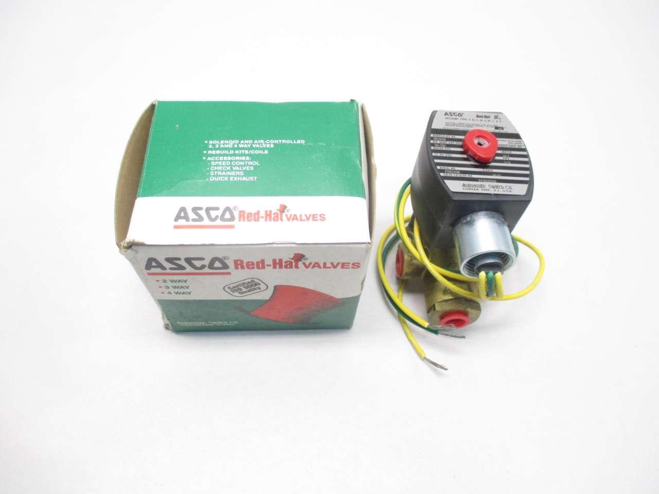ASCO EF8345H3 Solenoid Valve 120V-AC 1//4IN NPT