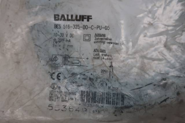 BALLUFF BES 516-325-B0-C-PU-05 PROXIMITY SENSOR 10-30V-DC