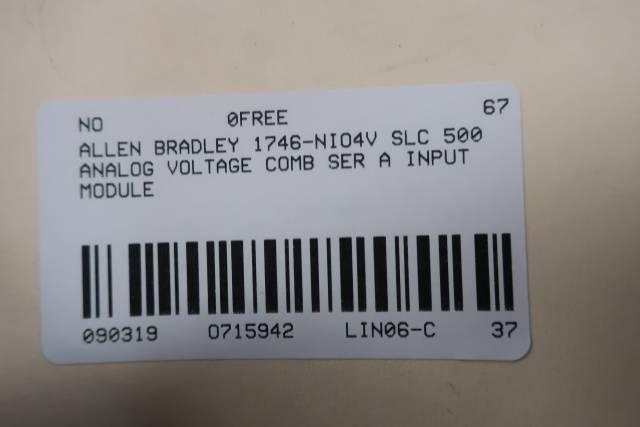 ALLEN BRADLEY 1746-NIO4V SLC 500 ANALOG VOLTAGE COMB MODULE SER A