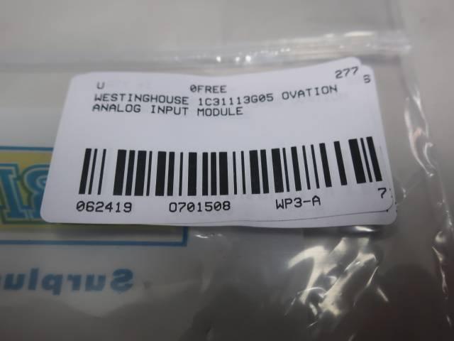 WESTINGHOUSE 1C31113G05 OVATION ANALOG INPUT MODULE
