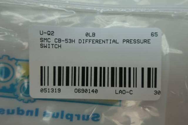 SMC CB-53H DIFFERENTIAL PRESSURE SWITCH