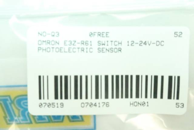 OMRON E3Z-R61 PHOTOELECTRIC SWITCH 12-24V-DC