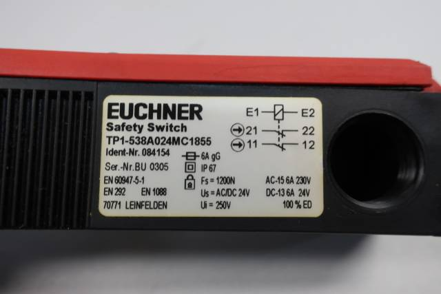 EUCHNER TP1-538A024MC1855 SAFETY SWITCH 230V-AC 24V-DC