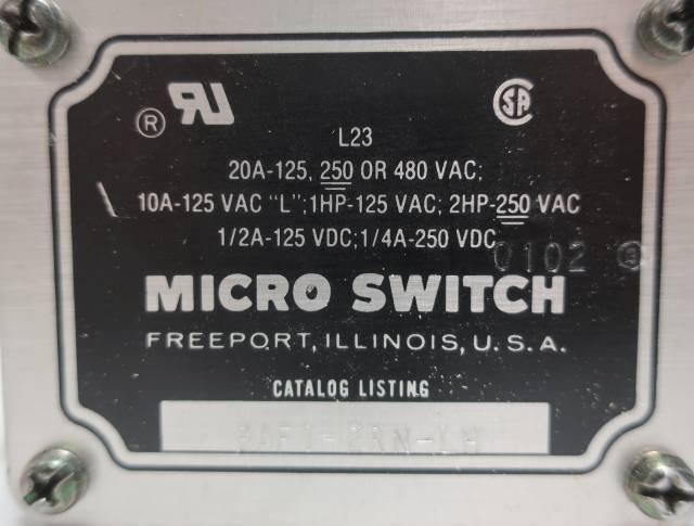 MICRO SWITCH BAF1-2RN-LH 480V-AC LIMIT SWITCH