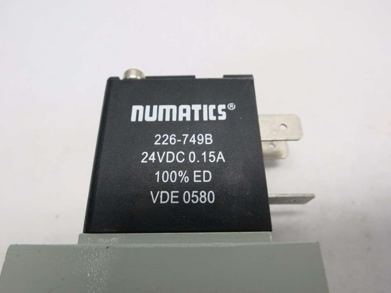 Numatics 226-749B Soleniod Coil 24VDC 0.15A