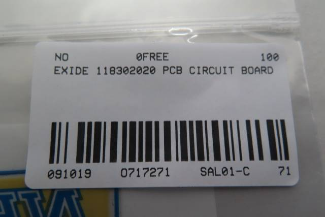 EXIDE 118302020 PCB CIRCUIT BOARD