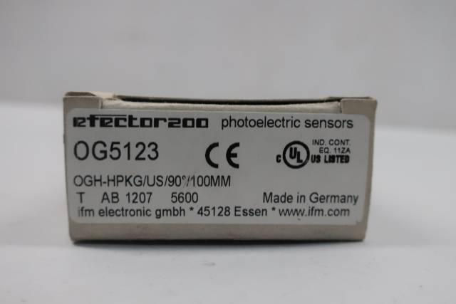 IFM EFECTOR OG5123 PHOTOELECTRIC SENSOR 10-30V-DC