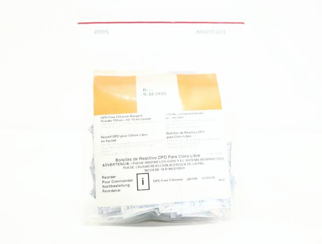 HACH 21055-69 PERMACHEM DPD FREE CHLORINE REAGENT POWDER PILLOW PACK OF 100
