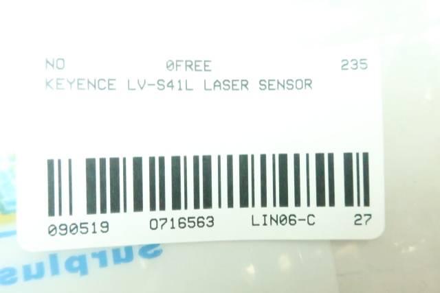 KEYENCE LV-S41L LASER SENSOR