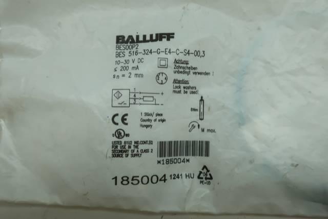 BALLUFF BES 516-324-G-E4-C-S4-00.3 INDUCTIVE PROXIMITY SENSOR 10-30V-DC