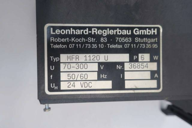 LEONHARD-REGLERBAU MFR 1120 U MULTI FUNCTION PROTECTION RELAY D550442