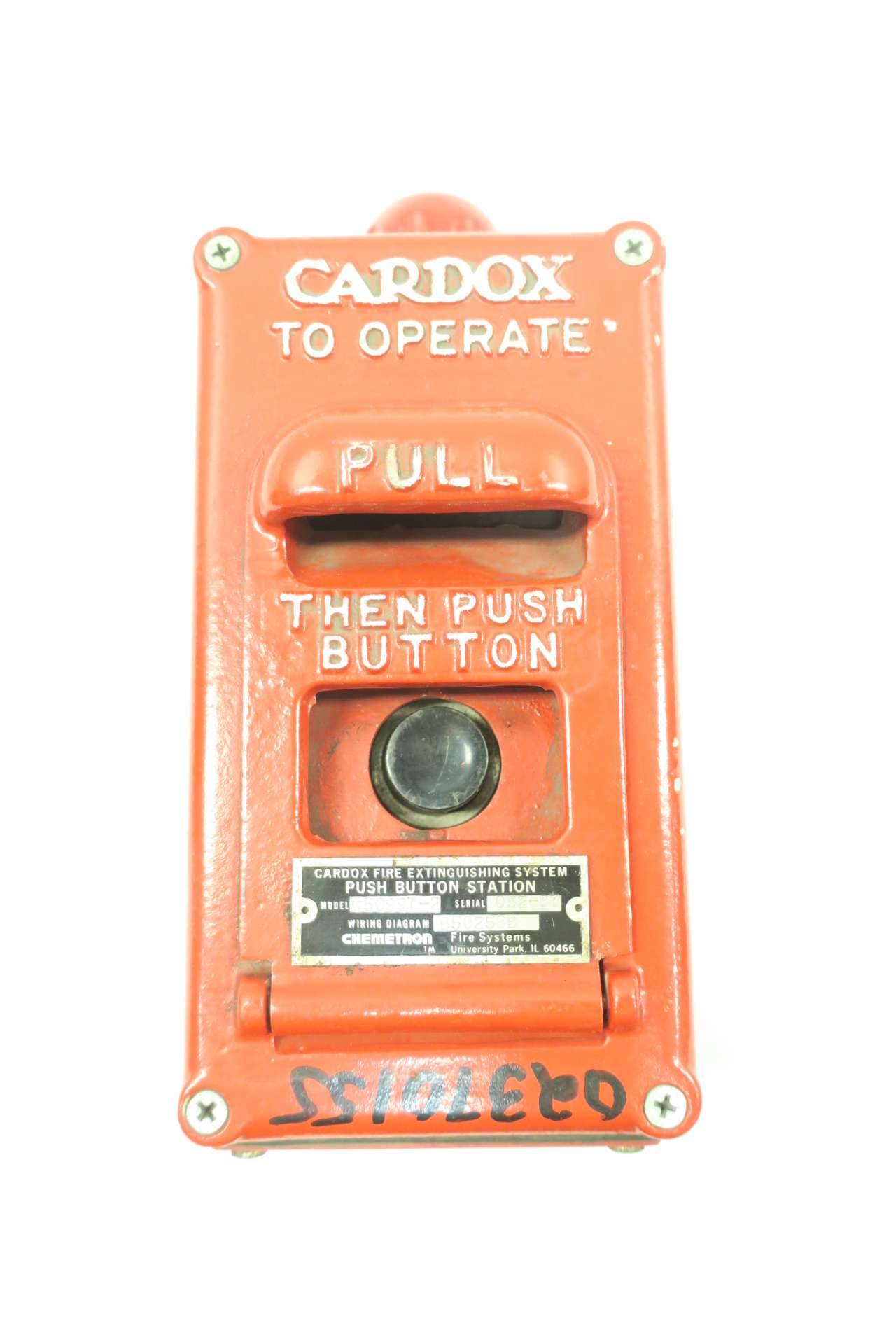 [EQHS_1162]  CARDOX C50997-2 CHEMETRON FIRE EXTINGUISHING PUSHBUTTON STATION D552558   Chemetron Wiring Diagrams      NRI Industrial
