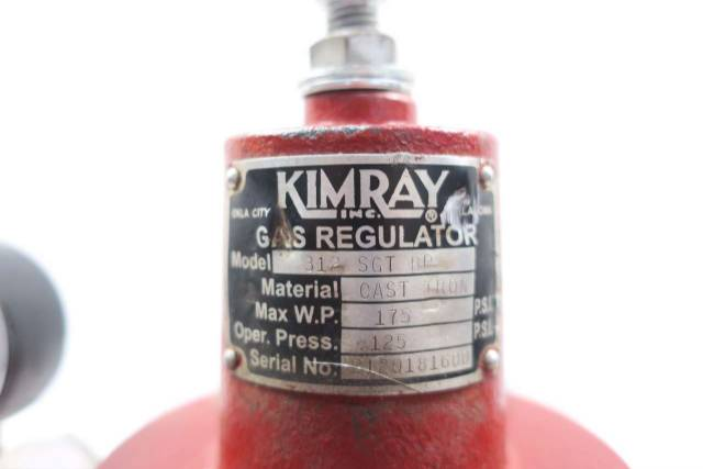 KIMRAY 312 SGT BP 3 IN NPT IRON GAS BACK PRESSURE REGULATOR VALVE D556041
