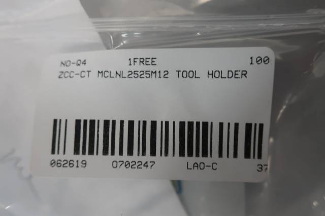 ZCC-CT MCLNL2525M12 TOOL HOLDER