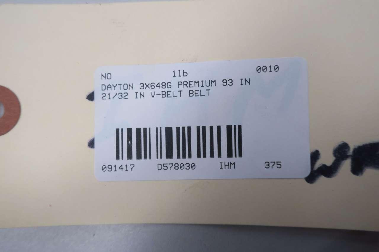 Dayton Premium V Belt B90 3X648G