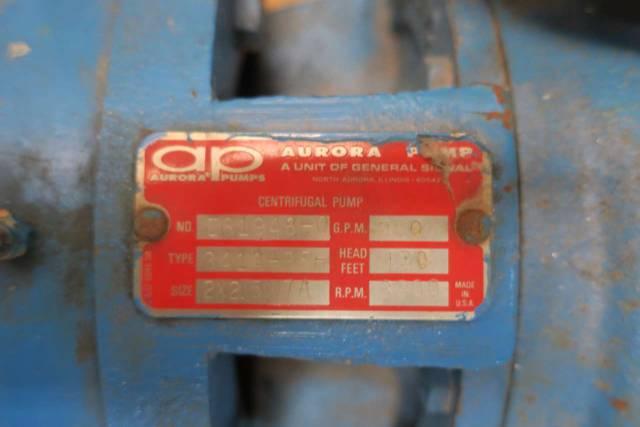AURORA 341A-BF 2 X 2 5 X 7A 250GPM 460V-AC 10HP IRON CENTRIFUGAL PUMP  D580442