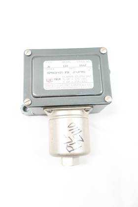UE UNITED ELECTRIC J6 134 30IN-HGV-20PSI 1/4IN 125/250V-AC PRESSURE SWITCH