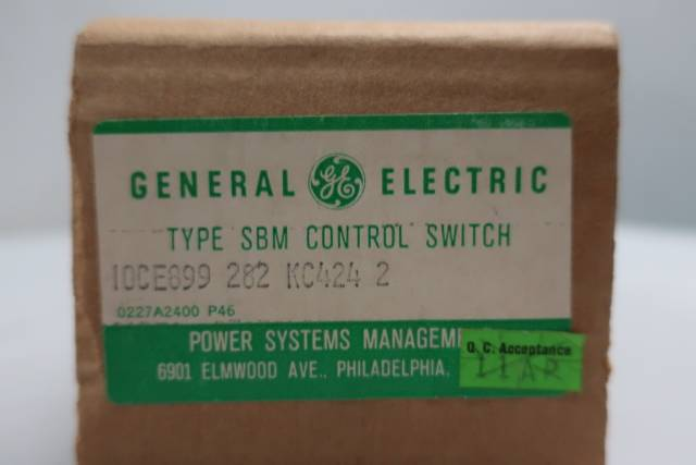 GENERAL ELECTRIC GE 10CE899 CONTROL SWITCH TYPE SBM