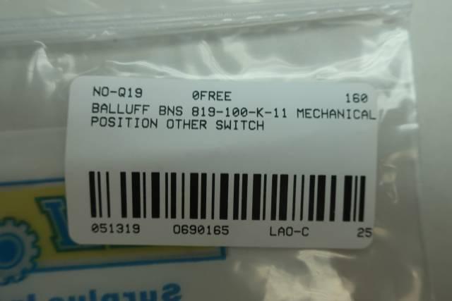 BALLUFF BNS 819-100-K-11 MECHANICAL POSITION SWITCH
