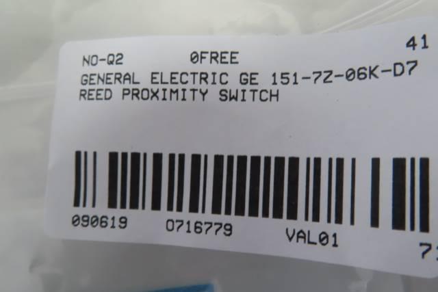 GENERAL ELECTRIC GE 151-7Z-06K-D7 SENTROL GUARDSWITCH REED PROXIMITY SWITCH