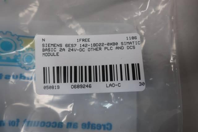 SIEMENS 6ES7 142-1BD22-0XB0 SIMATIC BASIC MODULE 2A 24V-DC