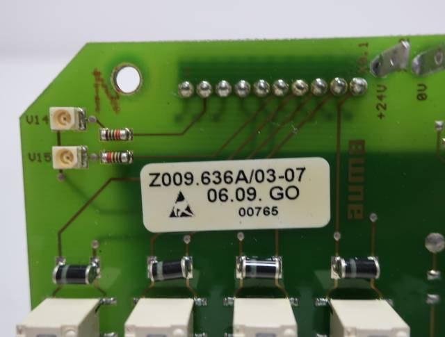 AUMA Z009.636A/03-07 INTERFACE PCB CIRCUIT BOARD R690645