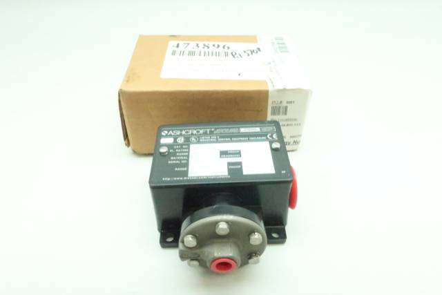 ASHCROFT B420B PRESSURE SWITCH 1/4IN 100PSI 125/250V-AC